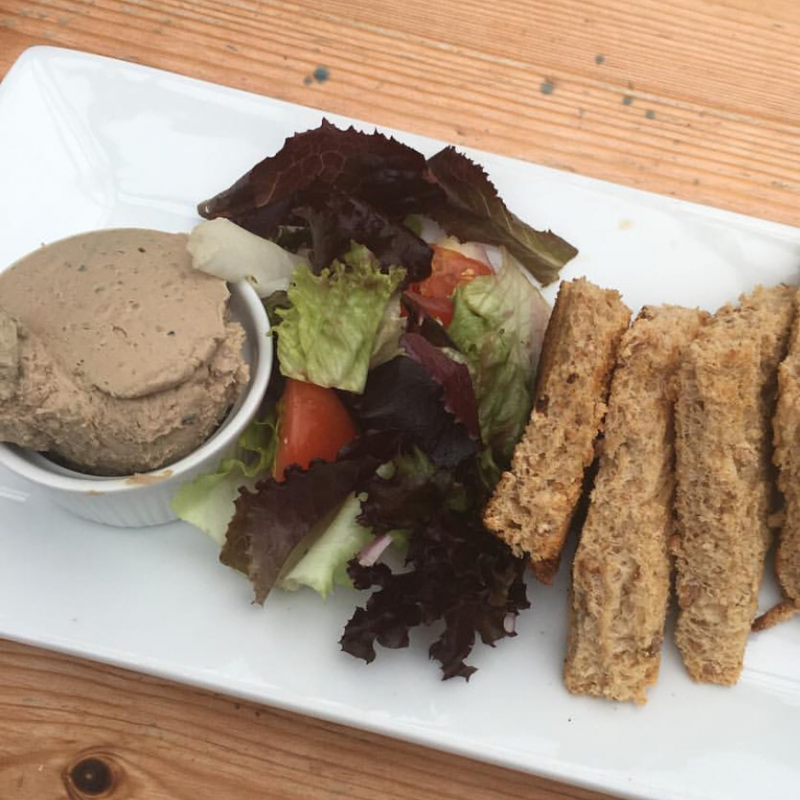 Chicken Liver Pate With Toasted Crusty Bread